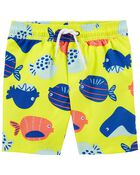 Fish Swim Trunks, , hi-res