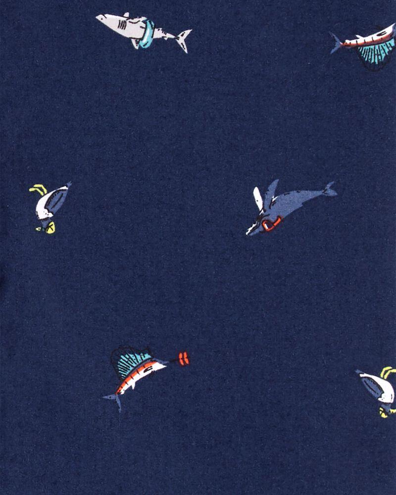 Nautical Button-Front Shirt, , hi-res