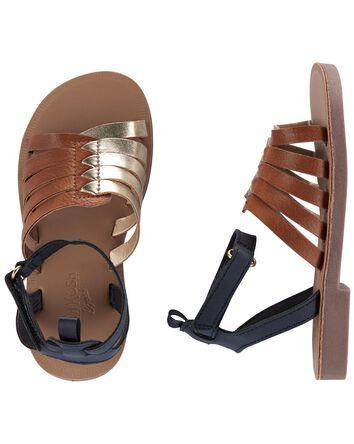 Colourblock Strappy Sandals