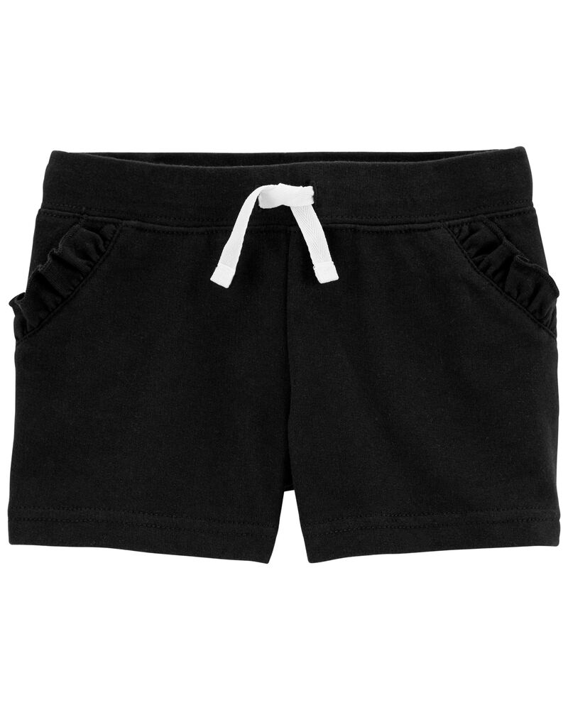 Ruffle Pull-On French Terry Shorts, , hi-res