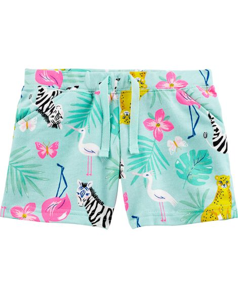 Animal Pull-On French Terry Shorts
