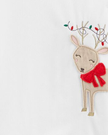 2-Piece Reindeer Holiday Fleece PJs