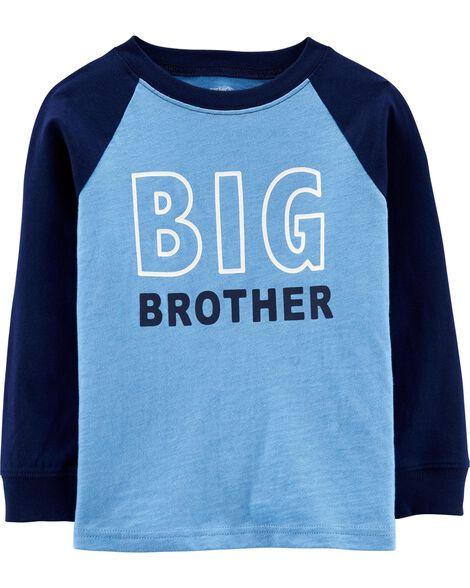 T-shirt en jersey flammé à manches raglan Big Brother