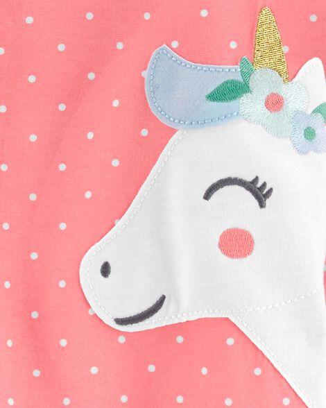 1-Piece Unicorn Poly Footie PJs