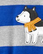 1-Piece Dog Fleece Footie PJs, , hi-res