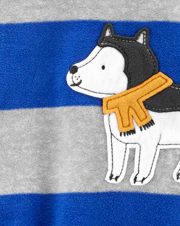 1-Piece Dog Fleece Footie PJs