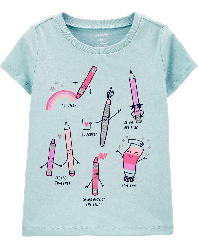 T-shirt en jersey à crayon, , hi-res