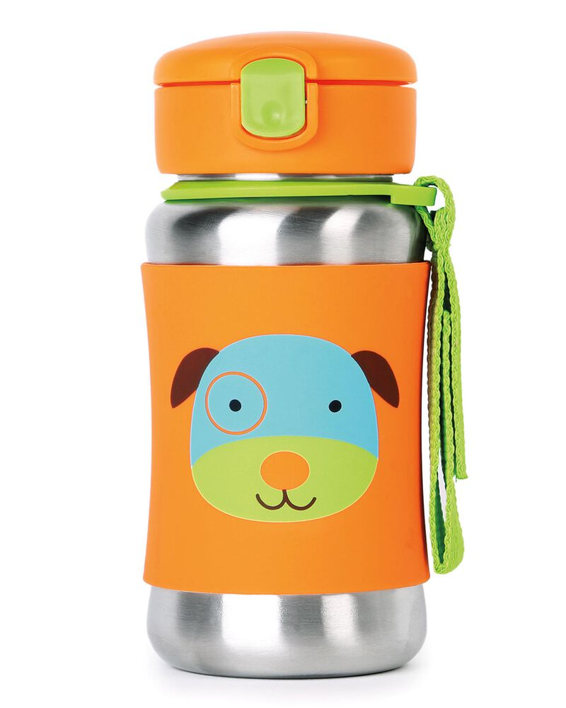 Zoo Stainless Steel Little Kid Straw Bottle, , hi-res