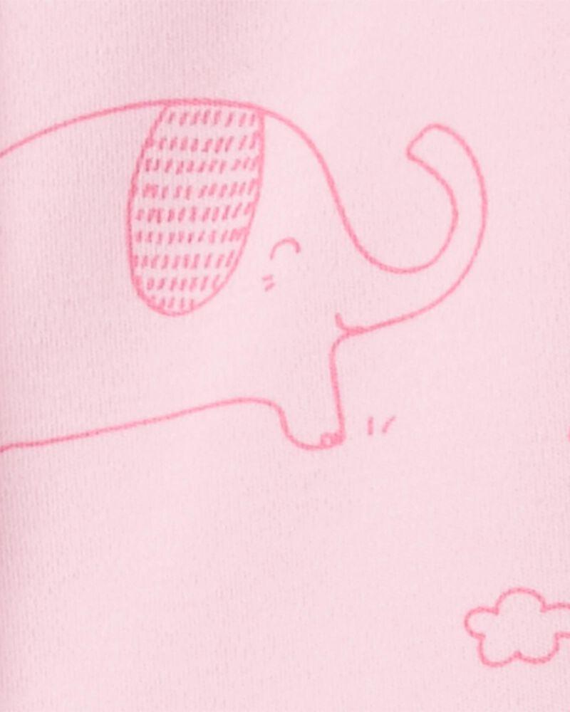 Elephant Snap-Up Cotton Sleep & Play, , hi-res