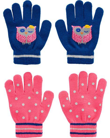 Emballage de 2 paires de gants chouette à paume agrippantes Kombi