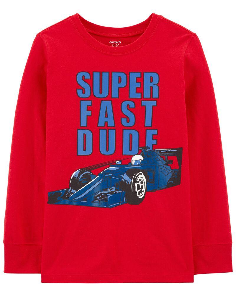 T-shirt en jersey Super Fast Dude Car, , hi-res