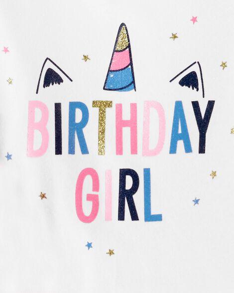 2-Piece Birthday Girl Tee & Tutu Pant Set
