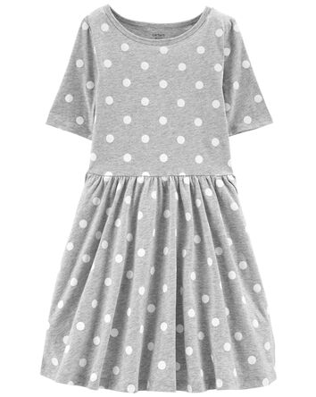Polka Dot Jersey Dress
