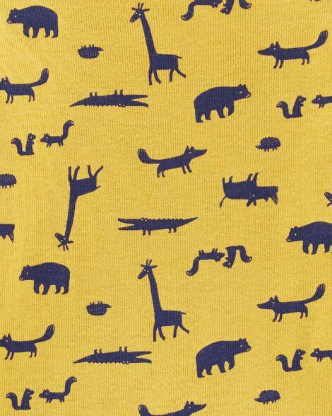 Ensemble 3 pièces gilet motif animaux