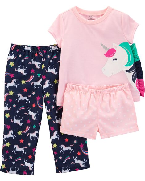3-Piece Unicorn Poly PJs