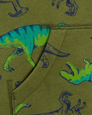 Dinosaur Zip-Up Fleece-Lined Hoodie