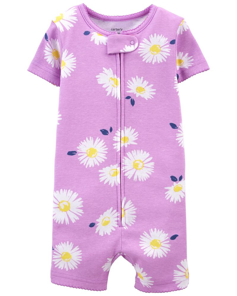 1-Piece Daisy 100% Snug Fit Cotton Romper PJs, , hi-res