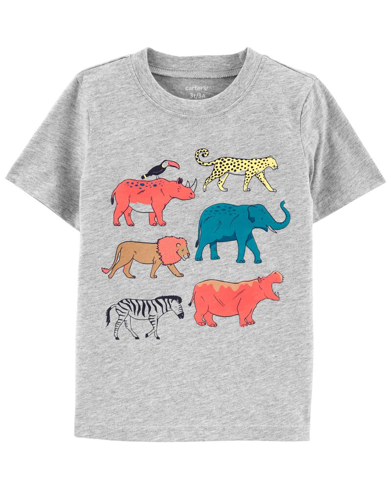 T-shirt en jersey à motif d'animal, , hi-res