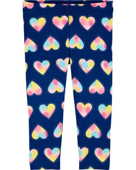 Heart Capri Leggings