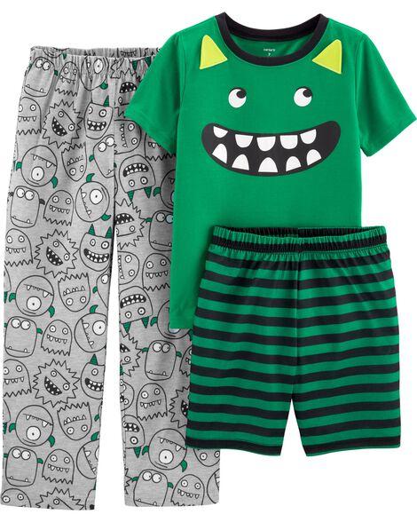 Pyjama 3 pièces en polyester monstre