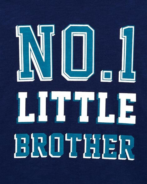 No.1 Little Brother Hooded Jersey Tee