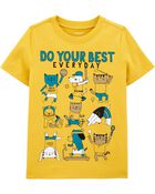 T-shirt en jersey Do Your Best Everyday, , hi-res