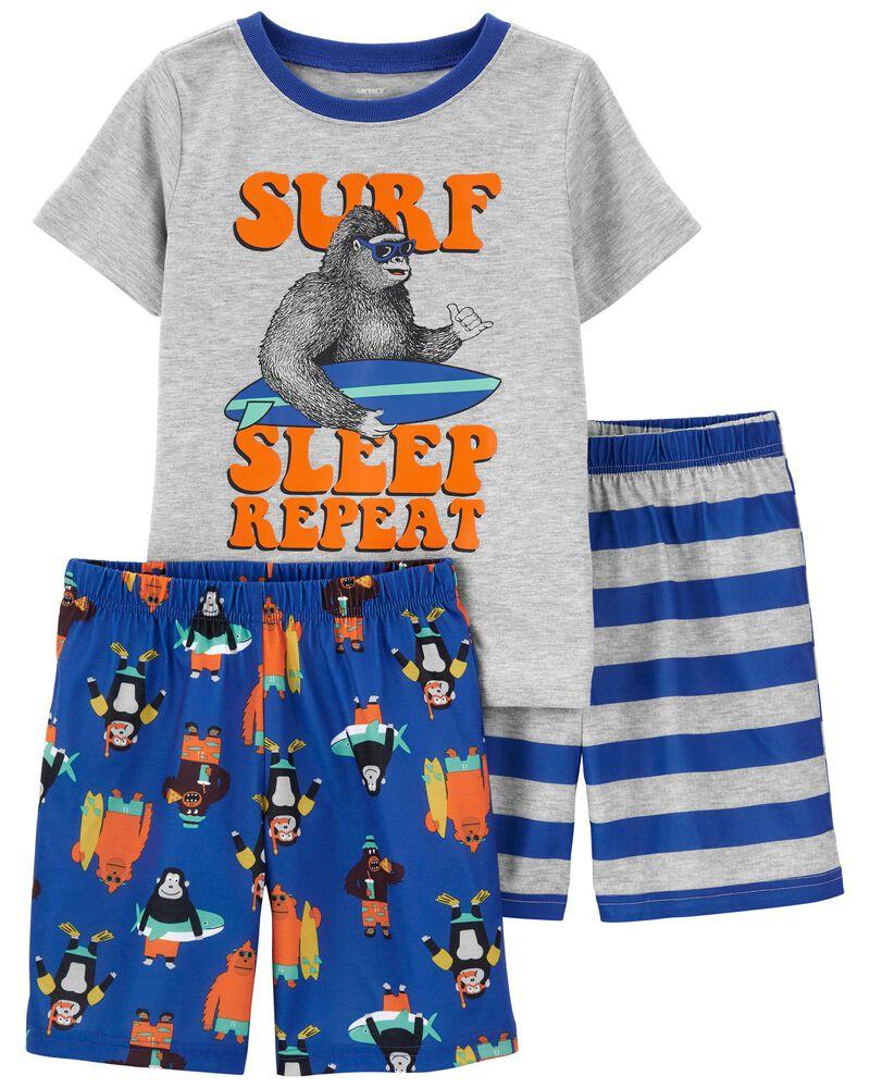 Pyjama 3 pièces de coupe ample, , hi-res