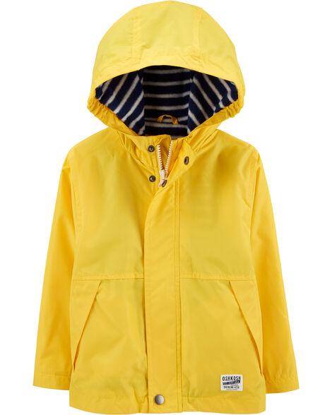 Fleece-Lined Rain Jacket
