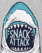 Ensemble 2 pièces t-shirt à requin et short, , hi-res