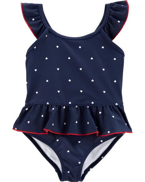 Polka Dot 1-Piece Swimsuit