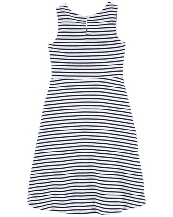 Striped Hi-Lo Dress