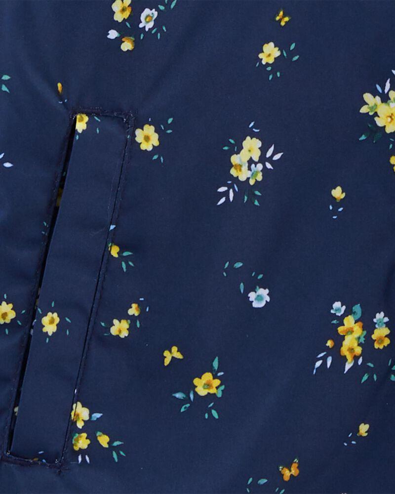 Fleece-Lined Floral Print Jacket, , hi-res