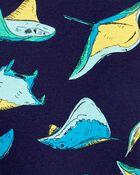 Pyjama 4 pièces en coton ajusté à raies, , hi-res