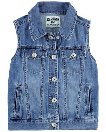 Denim Vest in Cozumel Wash