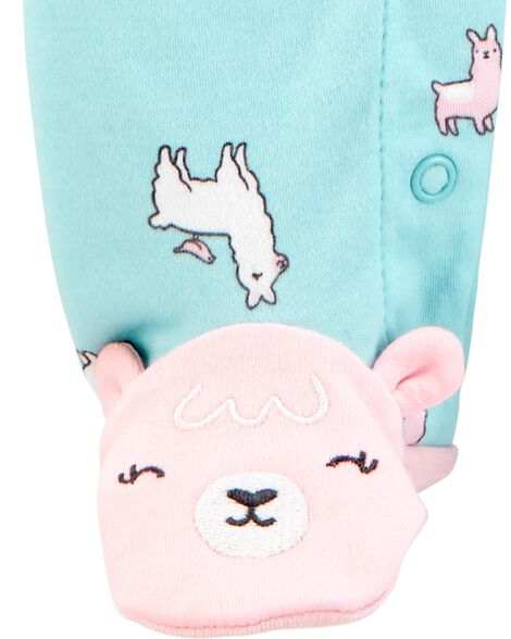 Llama Snap-Up Cotton Cotton Sleep & Play