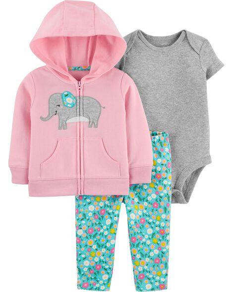 3-Piece Elephant Little Jacket Set