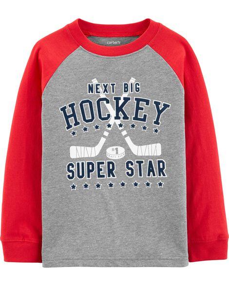 T-shirt raglan hockey