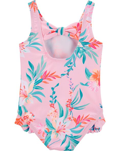 Tropical Floral One Piece Swimsuit
