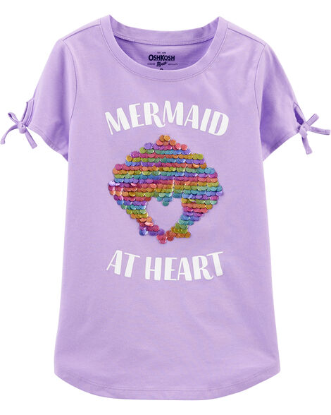 Mermaid Shell Sequin Tee