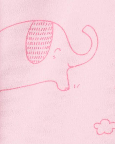 Grenouillère pour dormir et jouer éléphant avec glissière