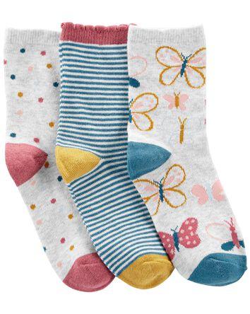 3-Pack Butterfly Socks