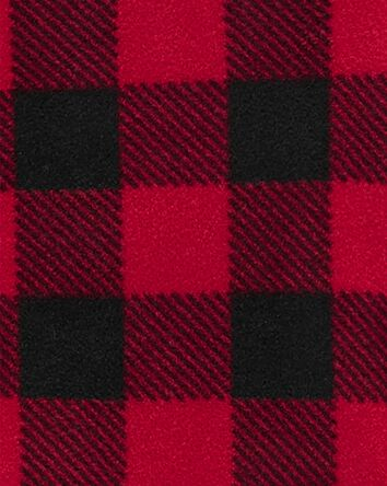 1-Piece Buffalo Check Fleece Footie...