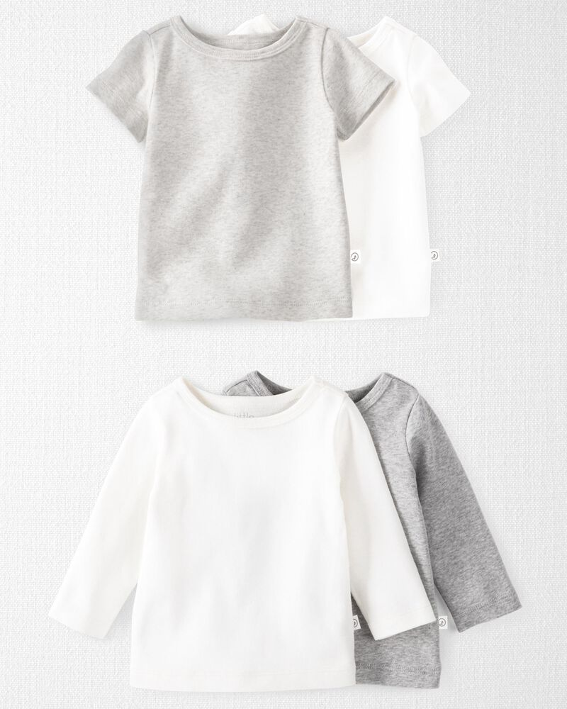 4-Pack Organic Cotton Rib Tops, , hi-res