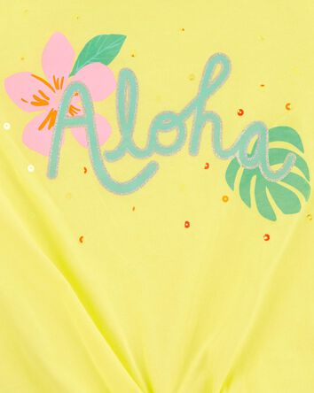Floral Aloha Tie-Front Tank
