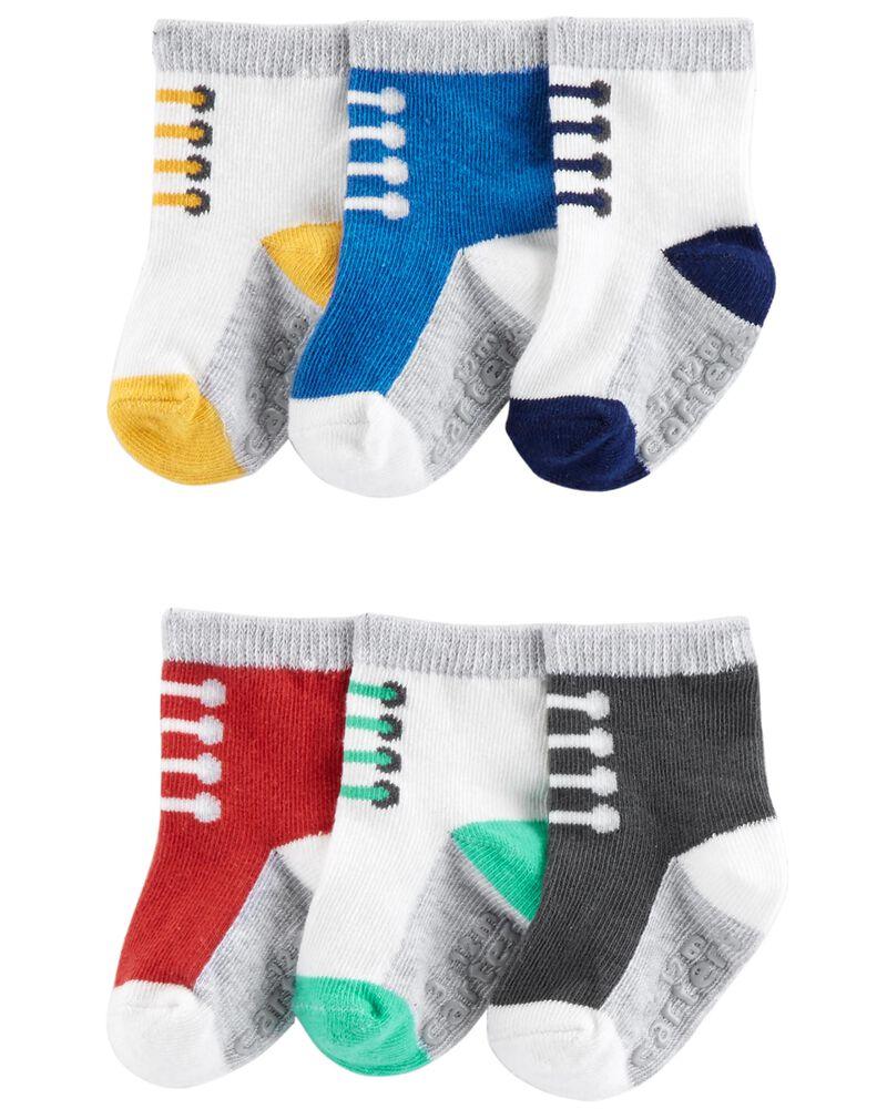 Emballage de 6 paires de chaussons espadrilles, , hi-res