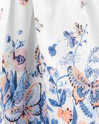 Robe chasuble à poche avec cœur fleuri, , hi-res