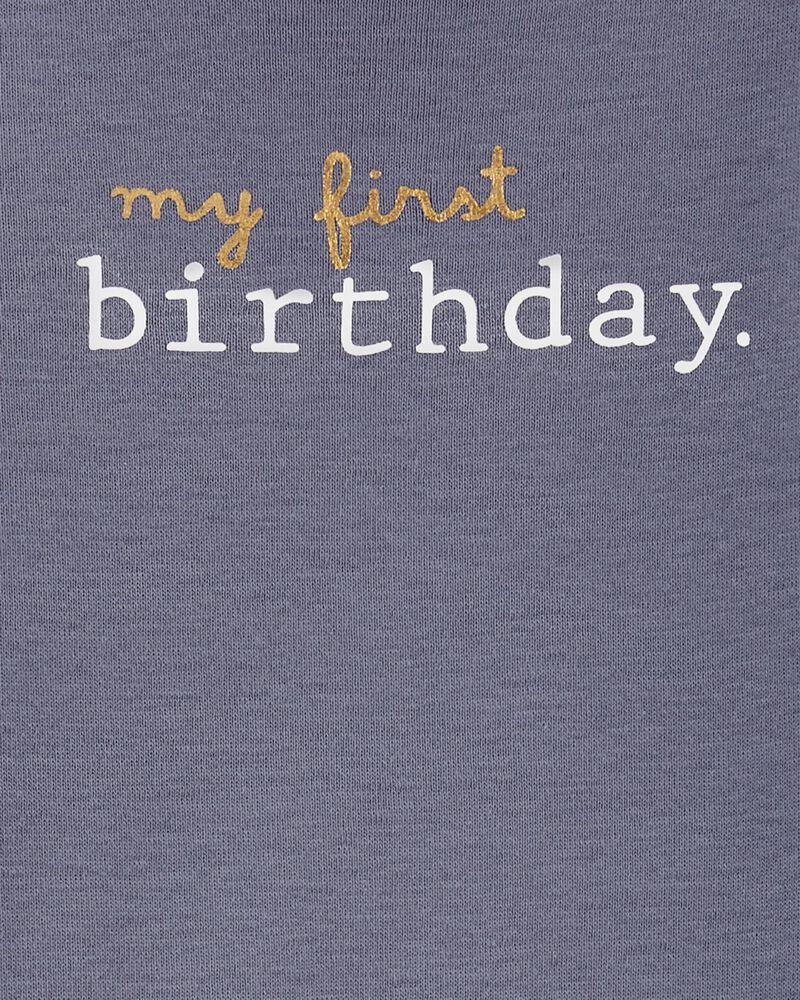 My First Birthday Original Bodysuit, , hi-res
