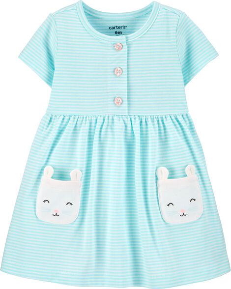 Striped Mouse Jersey Dress