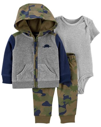 3-Piece Dinosaur Little Jacket Set