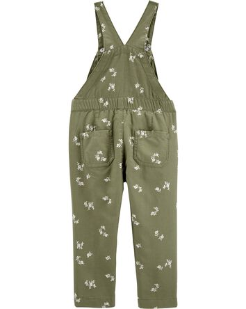 Floral Drawstring Overalls
